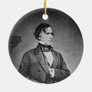 Portrait of President Franklin Pierce by M Brady Ceramic Ornament
