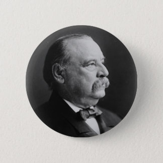 Portrait of President Stephen Grover Cleveland Pinback Button