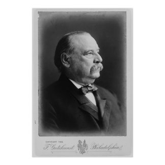Portrait of President Stephen Grover Cleveland Poster
