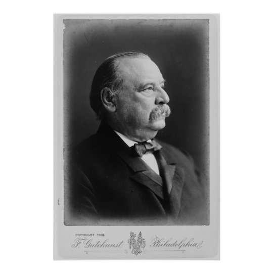 Portrait of President Stephen Grover Cleveland Poster