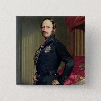 Portrait of Prince Albert (1819-61) 1859 (oil on c Button