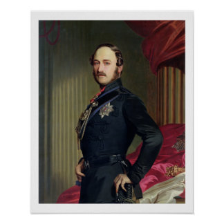 Portrait of Prince Albert (1819-61) 1859 (oil on c Poster