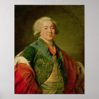 Portrait of Prince Alexander Borisovich Kurakin Poster