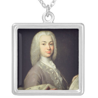 Portrait of Prince Antiokh Kantemir Silver Plated Necklace