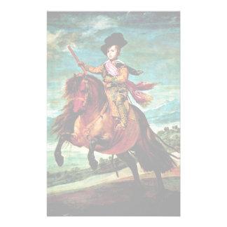 Portrait Of Prince Balthasar Carlos On Horseback Stationery