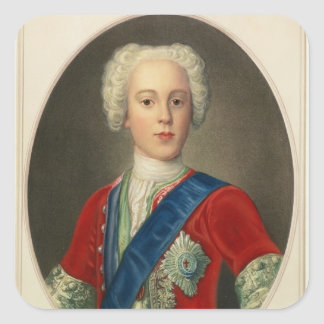 Portrait of Prince Charles Edward Square Sticker