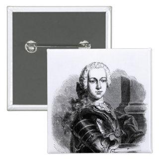 Portrait of Prince Charles Edward Stuart 2 Inch Square Button