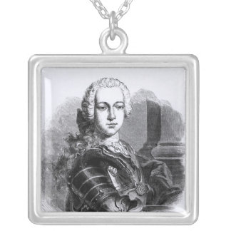 Portrait of Prince Charles Edward Stuart Silver Plated Necklace