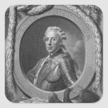 Portrait of Prince Henry of Prussia , 1779 Square Sticker