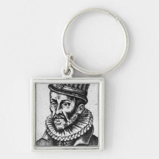 Portrait of Prince Ludovico of Gonzaga Silver-Colored Square Keychain