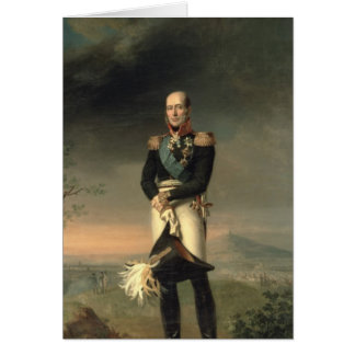 Portrait of Prince Mikhail Barclay de Tolly Card