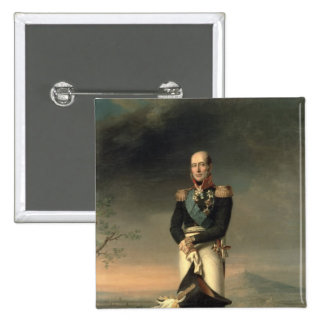 Portrait of Prince Mikhail Barclay de Tolly Pinback Button