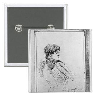 Portrait of Prince Otto von Bismarck, 1834 Pinback Button