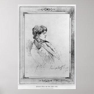 Portrait of Prince Otto von Bismarck, 1834 Poster