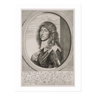 Portrait of Prince Rupert (1619-82) Count Palatine Postcard
