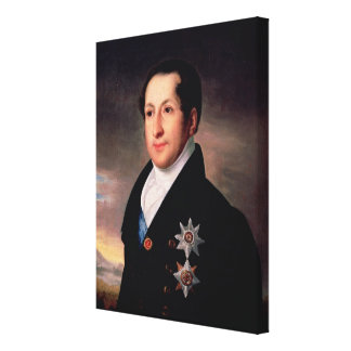 Portrait of Prince Sergej Golitsyn , post 1828 Canvas Print