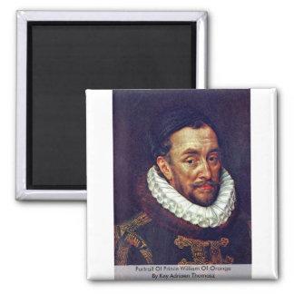 Portrait Of Prince William Of Orange 2 Inch Square Magnet