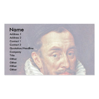 Portrait Of Prince William Of Orange Business Card Template