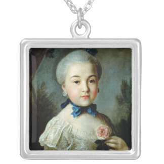 Portrait of Princess Charlotte Sophia Silver Plated Necklace