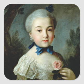 Portrait of Princess Charlotte Sophia Square Sticker