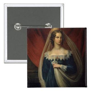 Portrait of Princess Charlotte von Preussen Button