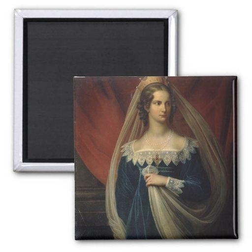 Portrait of Princess Charlotte von Preussen Fridge Magnet