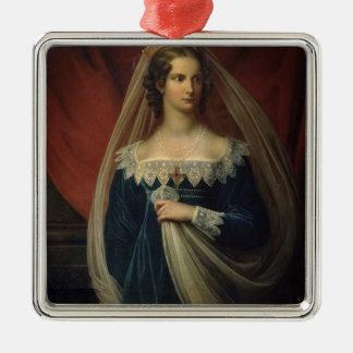 Portrait of Princess Charlotte von Preussen Metal Ornament