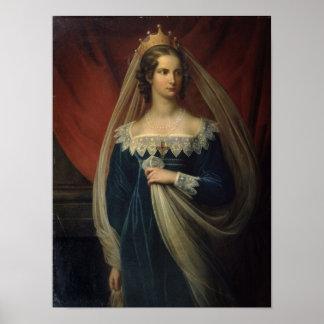 Portrait of Princess Charlotte von Preussen Poster