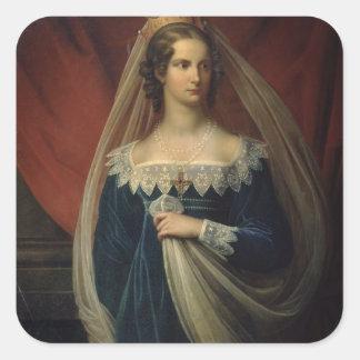 Portrait of Princess Charlotte von Preussen Square Sticker