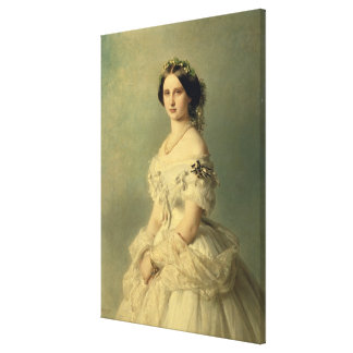 Portrait of Princess of Baden, 1856 Canvas Print