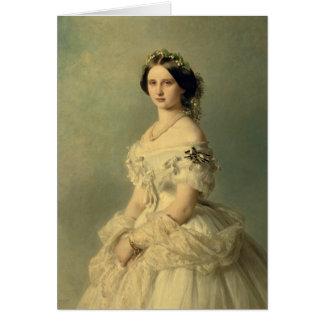 Portrait of Princess of Baden, 1856 Card