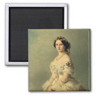 Portrait of Princess of Baden, 1856 Magnet