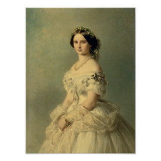 Portrait of Princess of Baden, 1856 Poster