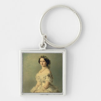 Portrait of Princess of Baden, 1856 Silver-Colored Square Keychain