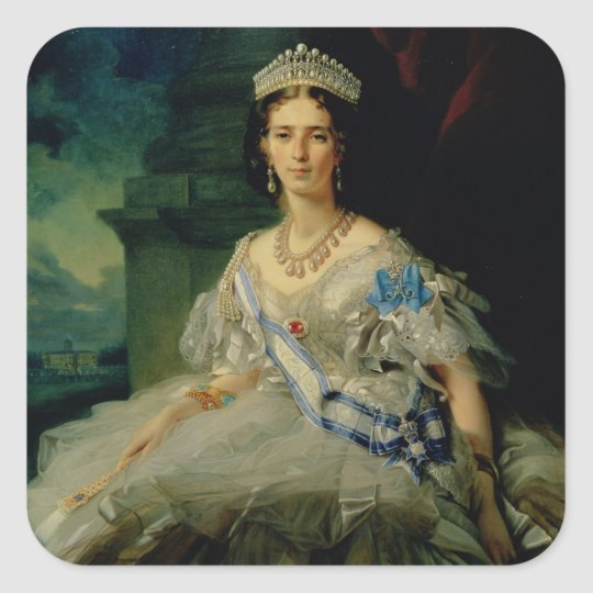 Portrait of Princess Tatiana Alexanrovna Square Sticker