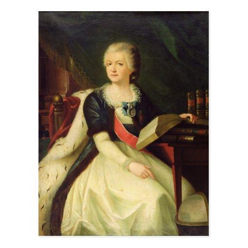 Portrait of Princess Yekaterina R Post Card