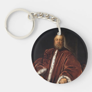 Portrait of Procurator of St Mark's by Tintoretto Key Chain
