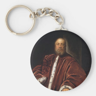 Portrait of Procurator of St Mark's by Tintoretto Key Chains