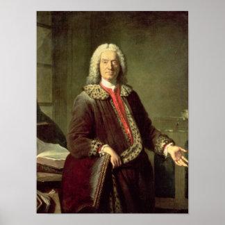 Portrait of Prosper Jolyot de Crebillon , 1746 Poster