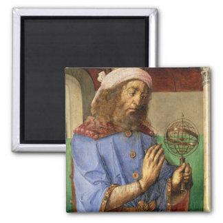 Portrait of Ptolemy, c.1475 2 Inch Square Magnet