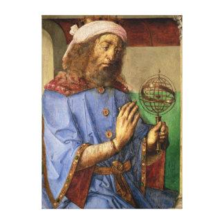 Portrait of Ptolemy, c.1475 Canvas Prints