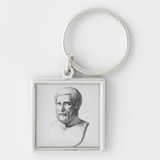 Portrait of Pythagoras Key Chains
