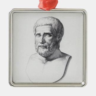 Portrait of Pythagoras Metal Ornament