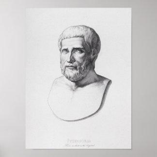 Portrait of Pythagoras Print