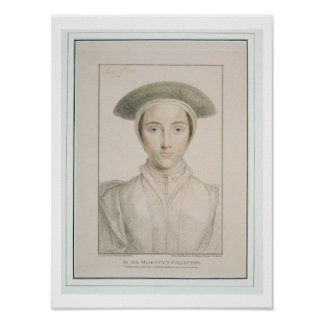 Portrait of Queen Anne of Cleves (1515-57) engrave Poster