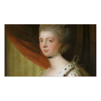 Portrait of Queen Charlotte by Joshua Reynolds Business Cards