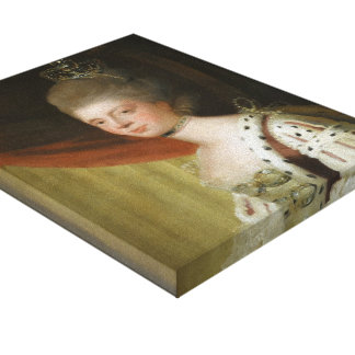 Portrait of Queen Charlotte by Joshua Reynolds Gallery Wrapped Canvas