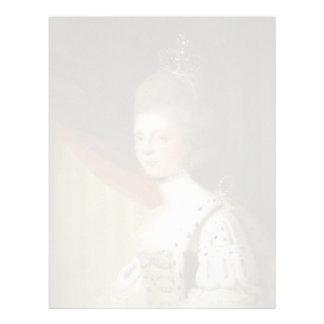 Portrait of Queen Charlotte by Joshua Reynolds Letterhead Template