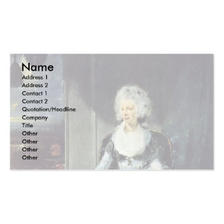 Portrait Of Queen Charlotte By Sir Thomas Business Cards