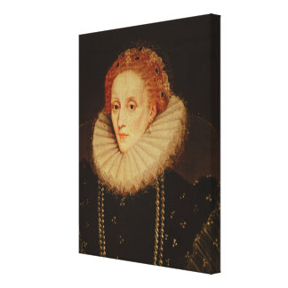 Portrait of Queen Elizabeth I Canvas Print